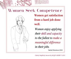Women seek competence